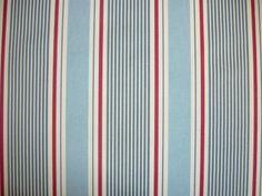 Clarke and Clarke Sail Stripe Marine | Textile Express | Fabric, £10 a metre