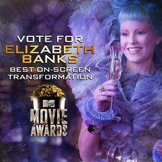 Best on-screen transformation for #MtvMovieawards Vote for #Elizabethbanks as #Effietrinket