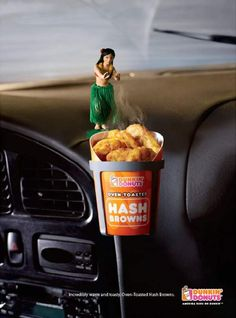 Dunkin' Donuts makes sure that its other products are oven hot and fresh like the hash browns shown here!