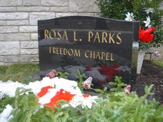 Iconic civil rights activist Rosa Parks died in 2005 and is buried in Woodlawn Cemetery. Rosa Parks, Woodlawn Cemetery, Church Pictures, African American History, American Women, Social Activist, Famous Graves, Harriet Tubman, Strong Marriage