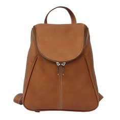 Piel Leather U-Zip Backpack