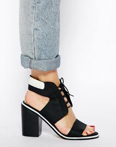 Asos / Senso Riley I Black/White Heeled Sandals - WANT SO BAD