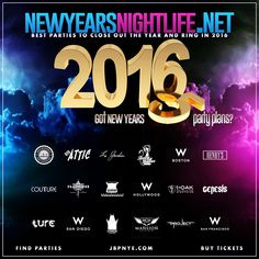 2016 NYE Party Guide: Complete guide to New Years Eve Event Nightlife, best New Years parties, top New Years events and best things to do on New Year's Eve; comprehensive list of top NYE events. Best online resource for Everything What's Happening NYE Party Guide to Best LA New Years party destinations, where to party New Years nightlife and all things NYE 2016.