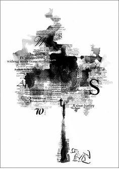 typography tree par fikriye