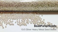 Silver Plated Metal Seed Beads - Size 15/0 - 5 grams