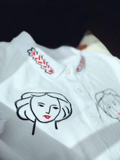 Organic cotton polo T-shirt MATISSE Sporty Chic, Matisse, Organic Cotton, Sweatshirts, Blouse, Sweaters, T Shirt, Fashion, Embroidery