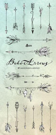 Boho Arrows 17 hand drawn clipart Tribal Native D Piercing Tattoo, Piercings, Neck Tattoos, Body Art Tattoos, Ankle Tattoos, Word Tattoos, Gun Tattoos, Tattoo Names, Tattoo Symbols