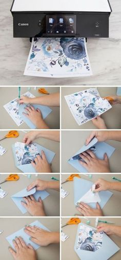 These Free Printable Floral Envelope Liners Are Gorgeous! These Free Printable Floral Envelope Liners Are Gorgeous! Print our floral designs for free and easily make your own envelope liners! Mason Jar Crafts, Mason Jar Diy, Envelope Diy, Diy Envelope Liners, Envelope Design, Diy Hanging Shelves, Diy Home Decor Projects, Wedding Cards, Diy Wedding Envelopes