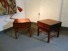 Pair of Midcentury Teak Bedside or Side Tables Circa 1960 in Antiques, Antique Furniture, Tables, Century Side Tables, Bedside, Antique Furniture, Teak, Mid Century, Pairs, Antiques, Home Decor, Antiquities