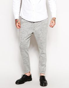 ASOS+Skinny+Fit+Smart+Cuffed+Joggers+In+Wool+Mix