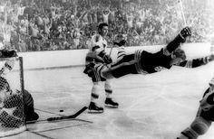 Bobby Orr 4 Boston Bruins Game Winning Goal Leaping In Air NHL 8x10 #BostonBruins