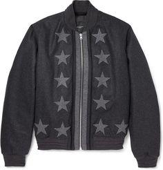 En Vente Sur Ebay Slim-fit Appliquéd Intarsia Wool Bomber Jacket - BlackGivenchy Meilleure Vente Vendeur En Ligne Vente Pas Cher Vraiment Pas Cher kmLxL