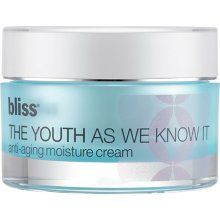Bliss The Youth As We Know It Anti-Aging Moisture Cream - 1.7 oz - This Anti-Aging Moisture Cream helps to turn back time by promoting collagen production, visibly diminish wrinkles, visibly fill fine lines, boost oxygen microcirculation, even skin tone, hydrate and plump, repair and soothe, smooth skin's texture, brighten and clarify, and improve skin firmness.