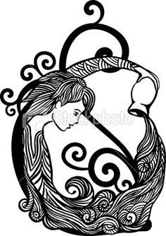 Aquarius tattoo i Stock Photo Zodiac symbol tattoos – taurus constellation tattoo Aquarius Tattoo, Aquarius Sign, Taurus Tattoos, Aquarius Love, Age Of Aquarius, Symbol Tattoos, Zodiac Tattoos, New Tattoo Designs, Tattoo Designs For Women