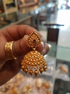 1 Gram Gold Jewellery, Gold Jewellery Design, Gold Jewelry, Gold Chain Design, Gold Ring Designs, Indian Jewelry Sets, Indian Wedding Jewelry, Ruby Necklace Designs, Gold Jhumka Earrings