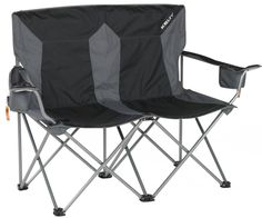 Cozy up in the comfortable Kelty Loveseat folding chair for two. With buildt-in adjustable berverage holders and a transport sack, this chair is light and easy to tote to the soccer field or the campsite. Price: $89.95
