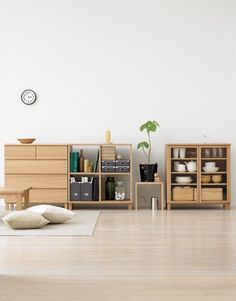 Interior Design Insight: Comparing Nordic and Japanese Styles - Cocoweb Tokyo Apartment, Japanese Apartment, Apartment Interior, Muji Storage, Storage Shelving, Japanese Interior Design, Home Interior Design, Muji Style, Muji Home