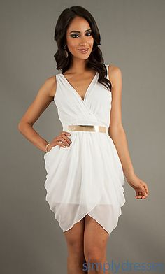 Short Sleeveless V-Neck Dress, Cocktail Dresses - Simply Dresses