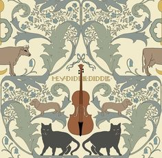 CFA Voysey, wallpaper - Hey, Diddle, Diddle, 1904