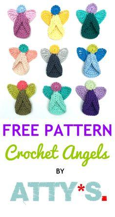 Free Crochet Angel Pattern – Atty*s. Free Crochet Angel Pattern – Atty*s. Crochet Christmas Decorations, Christmas Crochet Patterns, Crochet Ornaments, Holiday Crochet, Christmas Knitting, Crochet Gifts, Free Crochet, Crochet Angel Pattern, Crochet Angels