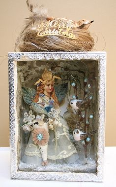 Bird & angel shadowbox