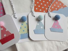 Party Hat Gift Tags - For Birthday or special occasion - idea