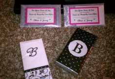 My DIY Tears of Joy Packets! :  wedding black ceremony diy inspiration pink white IMAG03951
