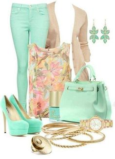 GORG mint with gold and pastels!