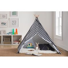 Free Shipping. Buy Little Seeds Rowan Valley River Teepee – Black/White at Walmart.com