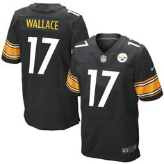 NFL Men's Elite Nike Pittsburgh Steelers #17 Mike Wallace Team Color Black Jersey$129.99