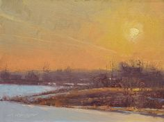 Beautiful End by Marc Hanson Oil ~ 6 x 8