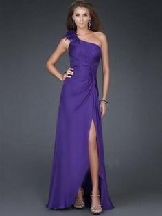 Mantel/Spalte einer Schulter-Blumen ärmellose bodenlangen Chiffon Prom/Abendkleider Hand-Made 290,39 €   165,09 €