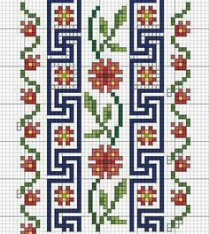 This Pin was discovered by tre Cross Stitch Boarders, Cross Stitch Bookmarks, Cross Stitch Rose, Cross Stitch Flowers, Cross Stitch Charts, Cross Stitch Designs, Cross Stitching, Cross Stitch Patterns, Blackwork Embroidery