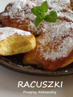 Przepisy Aleksandry: RACUSZKI DROŻDŻOWE Z OWOCAMI Breakfast Dishes, Breakfast Recipes, Snack Recipes, Dessert Recipes, Cooking Recipes, Snacks, Polish Desserts, Polish Recipes, Polish Food