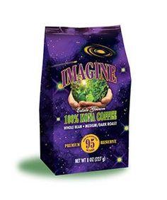 Kona Coffee Beans by Imagine  100 Kona Hawaii  Medium Dark Roast Whole Bean  8oz Bag -- See this great product.