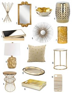 my home to yours gold and brass - Gold Home Decor