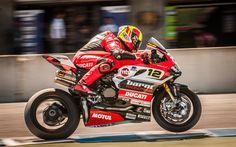 Download wallpapers Xavi Fores, sportbikes, 2017 bikes, Ducati 1299 Panigale S, Barni Racing Team, Javier Fores, Ducati