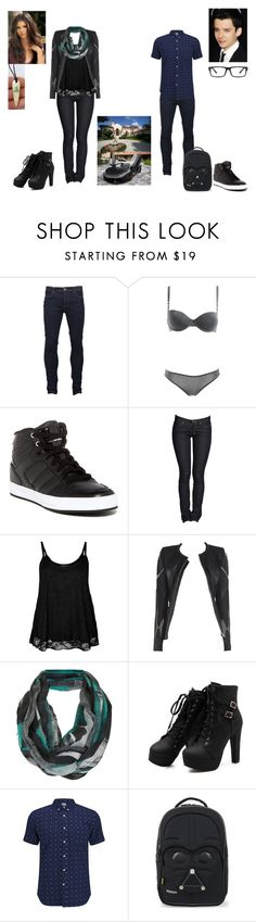 """""""TW #14"""" by hobbits-and-elves ❤ liked on Polyvore featuring Brave Soul, STELLA McCARTNEY, adidas, Allegra, Topshop, Edwin, Samsonite and GlassesUSA"""