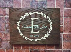 monogram barnwood sign decor
