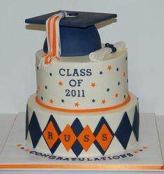 Graduation Cake  Class of 2012 with SH & bear claw symbol..