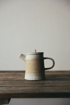 Influenced by traditional Japanese methods and embracing the concept of 'Wabi-Sabi' this beautiful ceramic teapot is hand thrown on the potters wheel in northern England.