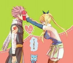 Fairy Tail- Natsu and Lucy Fairy Tail Nalu, Fairy Tail Natsu And Lucy, Fairy Tail Ships, Fairy Tail Family, Fairy Tail Couples, Fanart Manga, Anime Manga, Shugo Chara, Cardcaptor Sakura
