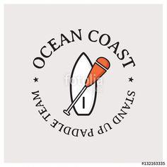 Un logo pour une école de voile, une association sportive où simplement à transformer en autocollant pour des fans de stand up paddle.
