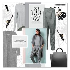"""""""grey"""" by drn57 ❤ liked on Polyvore featuring By Malene Birger, ZAC Zac Posen, Bobbi Brown Cosmetics, Stila, women's clothing, women, female, woman, misses and juniors"""