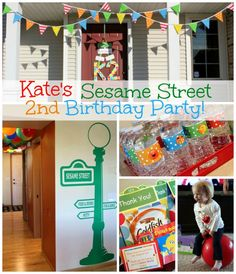 The making of my daughter Kate's Sesame Street Birthday Party - Sesame Street & Elmo birthday party ideas, party decorations, food and printables. Elmo Birthday, Twin Birthday, Boy Birthday Parties, Happy Birthday, Second Birthday Ideas, Sesame Street Party, Sesame Street Birthday Party Ideas, Elmo Party, Party Printables