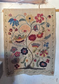 Colcha Embroidery New Mexico   by Teyacapan Could be used as an applique centre for a frame quilt