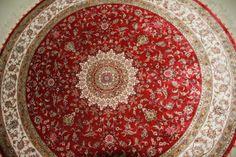 Round, handwoven, silk info@camelcarpet.com