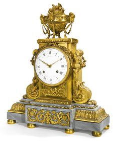 A Louis XVI ormolu mantel clock circa 1786. Dial signed Robin Aux Galeries Du Louvre, the movement signed Robin A Paris. Sotheby's