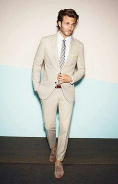 New 2017 Custom Made Beige Wedding men suit Tuxedos Cheap Real Image Three Piece Formal Groom Mens Suits ( jacket+Pants+tie) White Shirt Outfits, White Shirt Men, Beige Wedding, Wedding Men, Wedding Tuxedos, Wedding Groom, Trendy Wedding, Wedding Ideas, Mode Masculine