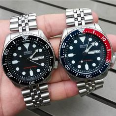 Seiko Skx009, Seiko Mod, Seiko Watches, Cool Watches, Watches For Men, Rose Gold Watches, Casio Watch, Quartz Watch, Bracelet Watch